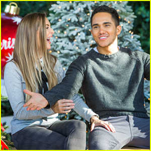 alexa carlos penavega share behind the scenes video from new hallmark movie enchanted christmas