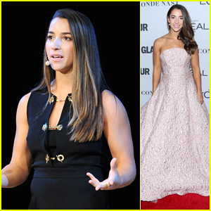 Aly Raisman Delivers Inspiring Speech about Sexual Assault at Glamour's Women of the Year Summit 2017
