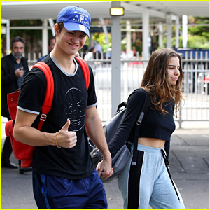 Ansel Elgort & Girlfriend Violetta Komyshan Look So Cute Together While Arriving in Australia!