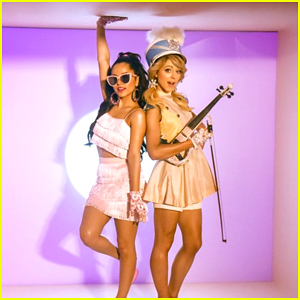 Lindsey Stirling Has Holiday Party with Becky G in 'Christmas C'Mon' Music Video - Watch!