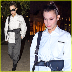 Bella Hadid Steps Out for Dinner with a Friend in NYC