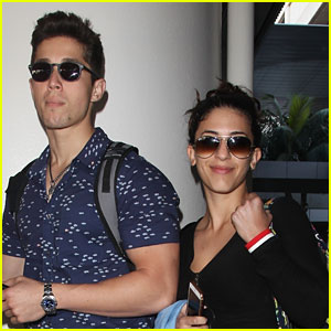 Brandon Larracuente Shows Off Bulging Biceps at Airport With Girlfriend Jazmin Garcia