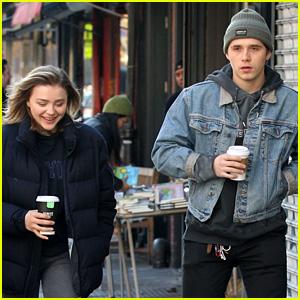 Chloe Moretz's Boyfriend Brooklyn Beckham Joins Her on NYC Movie Set