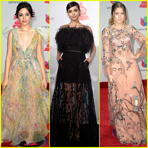 Camila Cabello, Sofia Carson, & Sofia Reyes Get Glam for the Latin Grammys 2017!