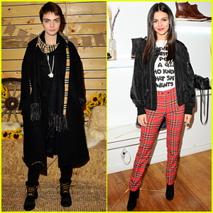 Cara Delevingne & Victoria Justice Show Off Cute Fall Styles!