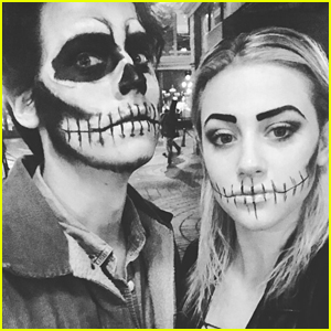 Cole Sprouse & Lili Reinhart Wear Zombie Makeup For Halloween