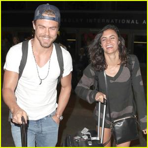 Derek Hough & Hayley Erbert Head Back to LA After Cabo San Lucas Getaway