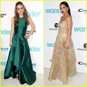 Izabela Vidovic Shines at 'Wonder' Premiere with Bea Miller