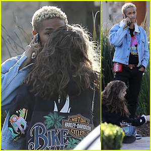 Jaden Smith & Girlfriend Odessa Adlon Get Close While Shopping Together in Calabasas!