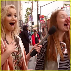Jennifer Lawrence Surprises Fans on Hollywood Blvd. While Hosting 'Kimmel'