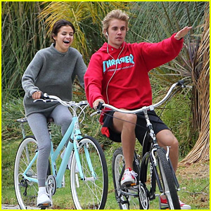 Justin Bieber & Selena Gomez Go on a Bike Ride Together!