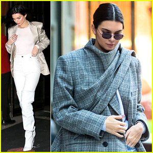 Kendall Jenner Spends the Day with Hailey Baldwin & Justine Skye in NYC