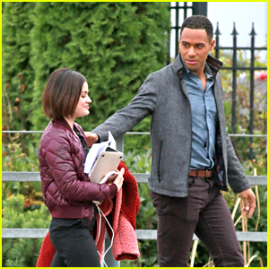 Elliot Knight Scares The Crap Out of Lucy Hale on 'Life Sentence' Set