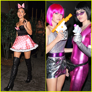 Madison Beer Dresses as Minnie Mouse For Halloween
