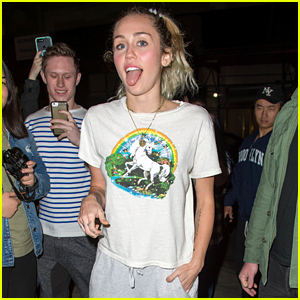 Miley Cyrus Rocks Unicorn T-Shirt & Sweats for 'SNL' Rehearsals