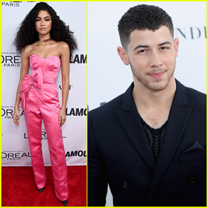 Zendaya Goes Glam in Pink Satin Jumpsuit at Glamour's Women of the Year Awards 2017