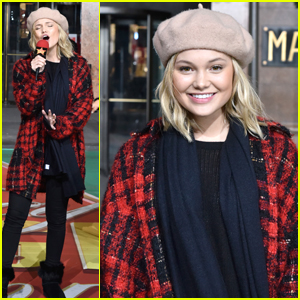 Olivia Holt Gets Ready For Macy's Thanksgiving Day Parade in NYC
