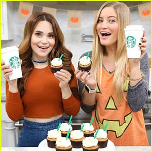 Rosanna Pansino & iJustine Make Pumpkin Spice Latte Cupcakes