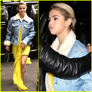 Selena Gomez Looks Gorgeous in Yellow at Lupus Charity Event
