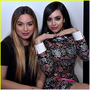 Sofia Carson Supports Sister Paulina at Disney x Kiehl's Feeding America Holiday Launch