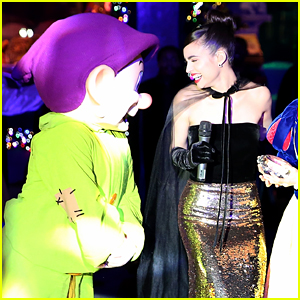 Sofia Carson Has Sweet Moment With Dopey at Saks Fifth Avenue Holiday Window Display Unveiling in NYC
