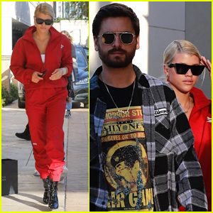 Sofia Richie Rocks a Bold Tracksuit While Shopping with Scott Disick