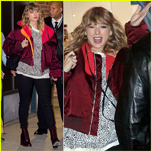 Taylor Swift is All Smiles While Hanging With Fans at Pop-Up Shop!