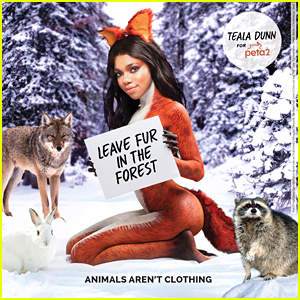 Teala Dunn Heads To The Forest In Anti-Fur Campaign for peta2 - See It Here! (Exclusive)
