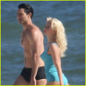 Julianne Hough Wears Retro Swimsuit for 'Bigger' Scene with Tyler Hoechlin!