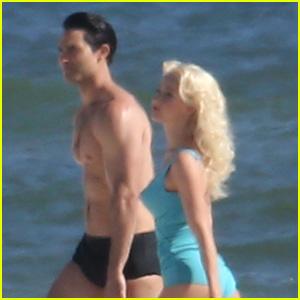 Julianne Hough Wears Retro Swimsuit for 'Bigger' Scene with Tyler Hoechlin!