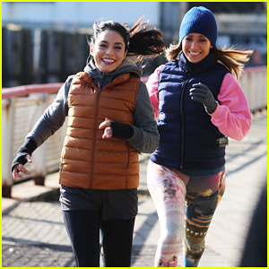 Vanessa Hudgens Goes For Fun Jog with Jennifer Lopez on 'Second Act' Set!