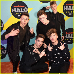 Why Don't We Nail Their Orange Carpet Poses at the Nickelodeon Halo Awards 2017!