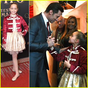 'The Greatest Showman's Austyn Johnson Shares The Cutest Moments With Hugh Jackman at NYC Premiere!