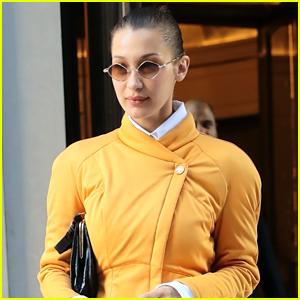 Bella Hadid Rocks a Bright Yellow Jacket in NYC