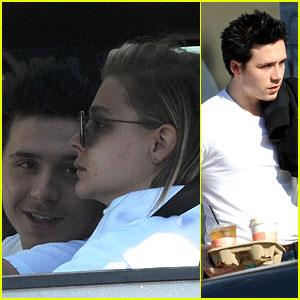 Brooklyn Beckham & Girlfriend Chloe Moretz Wear Matching Pants For Morning Outing