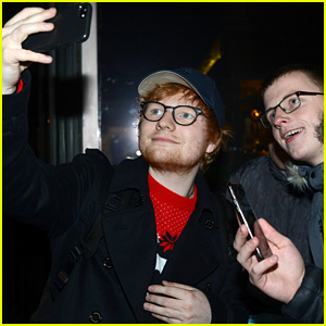 Ed Sheeran Takes Selfies With Fans While Taping a Show in Dublin!