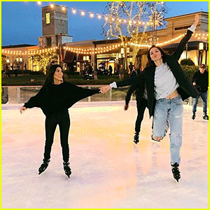 Kendall Jenner & Kourtney Kardashian Hit the Ice Skating Rink!