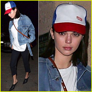 Kendall Jenner Wears a 'Stranger Things' Hat to Dinner