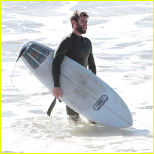 Liam Hemsworth Looks Fit While Surfing in Malibu!