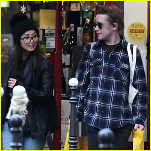 Brenda Song & Boyfriend Macaulay Culkin Couple Up for Paris Shopping Trip