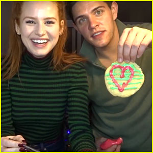 Madelaine Petsch & Casey Cott Decorate Christmas Cookies & Answer Fan Questions (Video)