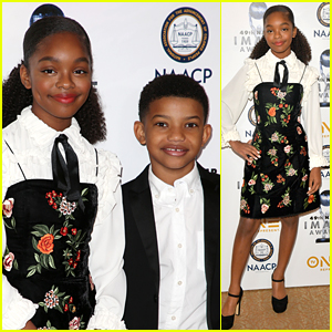 'Black-ish's Marsai Martin Hits NAACP Image Awards Luncheon with Lonnie Chavis