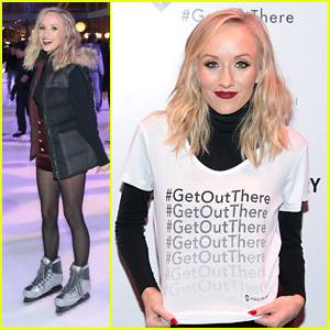 Nastia Liukin Goes Ice Skating at Bryant Park for Free Country & Fresh Air Fund's Partnership Event