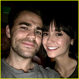 Nina Dobrev Paul Wesley Have A Vampire Diaries Reunion In Nyc