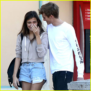 Presley Gerber & Model Charlotte D'Alessio Share a Smooch - See Pics!