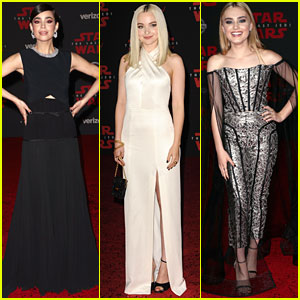 Sofia Carson, Dove Cameron, & Meg Donnelly Slay The 'Star Wars: The Last Jedi' Red Carpet