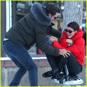 Sofia Richie & Scott Disick Get Playful in the Snow