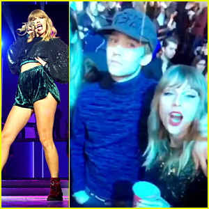 Taylor Swift Danced with Boyfriend Joe Alwyn in the Audience at Jingle Bell Ball! (Video)