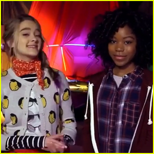 Lizzy Greene & Riele Downs Go Behind-the-Scenes of 'Tiny Christmas'