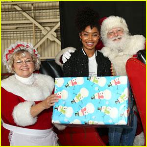 Yara Shahidi Surprises Kids at Holiday In The Hangar